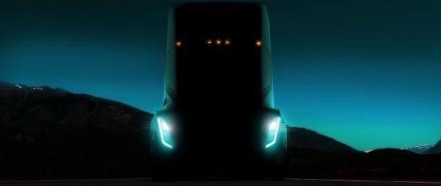 Tesla desvela una nueva imagen de su camión eléctrico