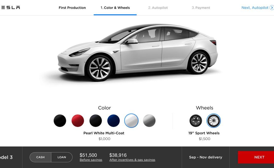 ¿Cómo será el configurador del Model 3?