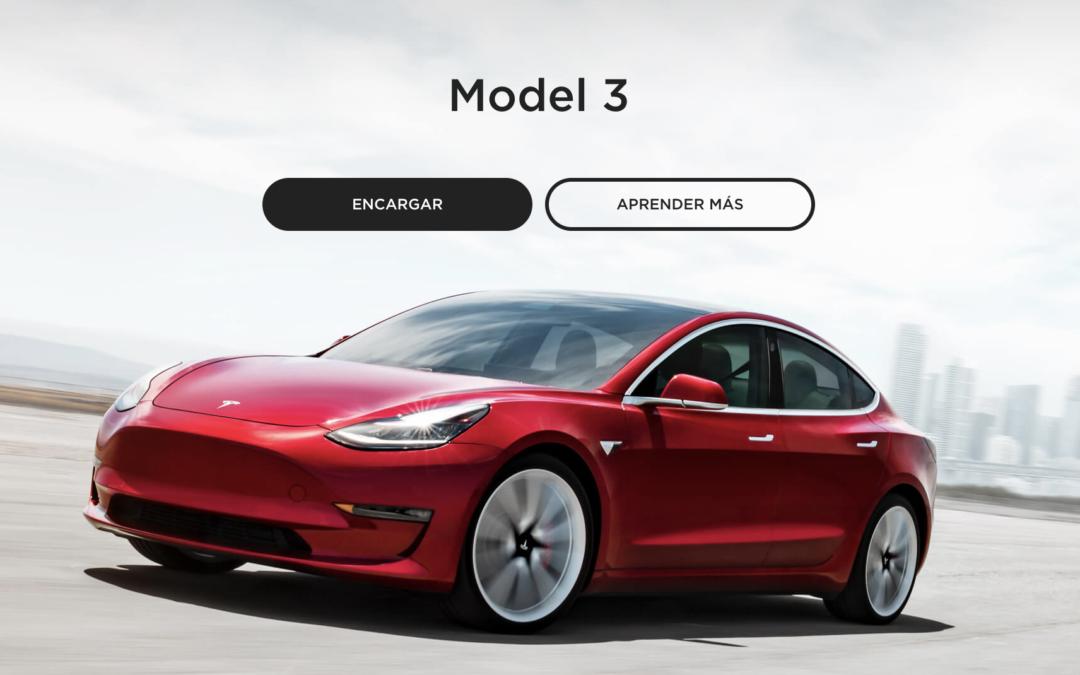 Tesla Model 3 Configurador