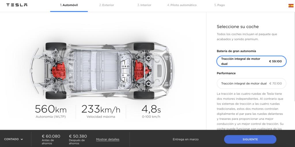 Configurador Tesla Model 3