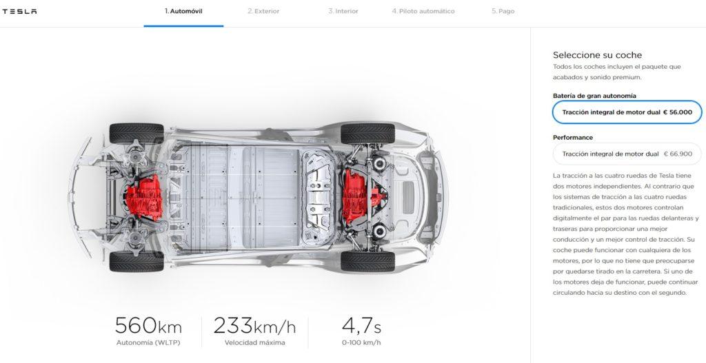 Configurador Tesla Model 3 en España