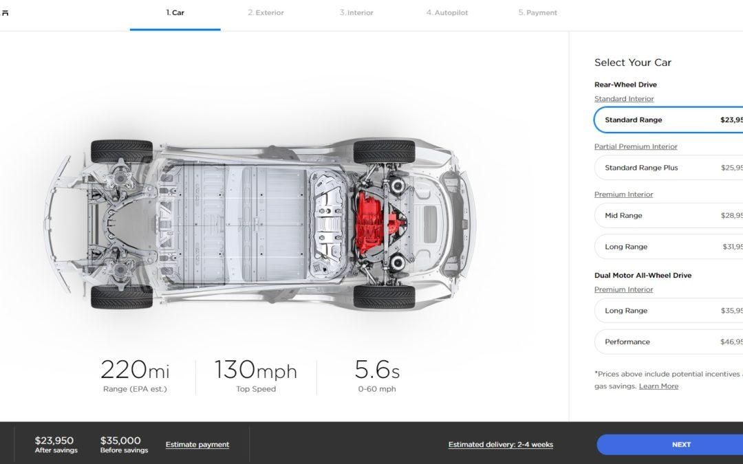 Llega el Tesla Model 3 de 35.000 dólares y baja el precio de sus versiones