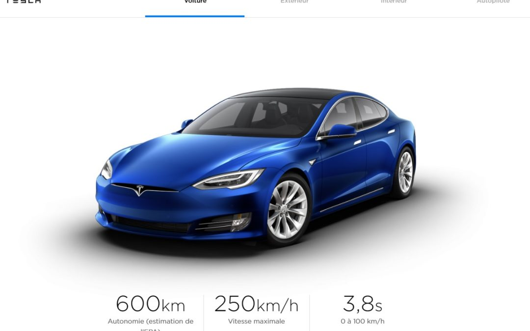 Tesla Model S 100D - Datos web Tesla Canada