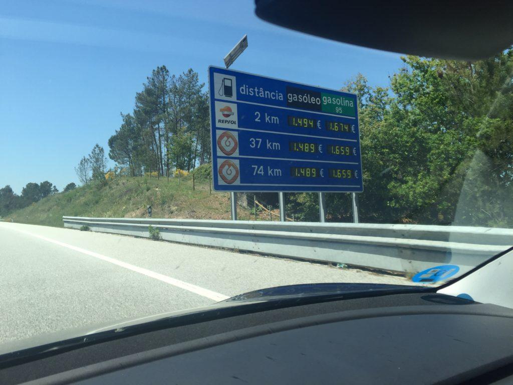 Precios de la gasolina en Portugal