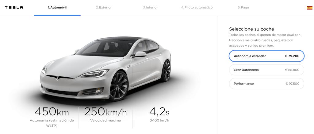 Configurador del Tesla Model S