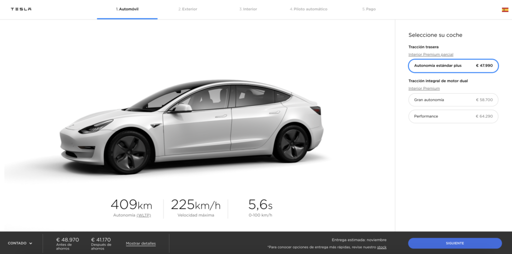Tesla Model 3 SR Plus