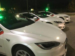 Taxi Tesla Madrid