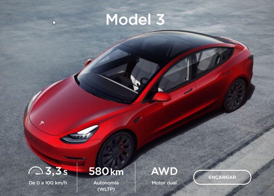 Evolución de precios del Tesla Model 3 ¡Ahora 7.500 € más barato!