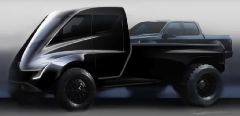 Primer diseño Pickup de Tesla